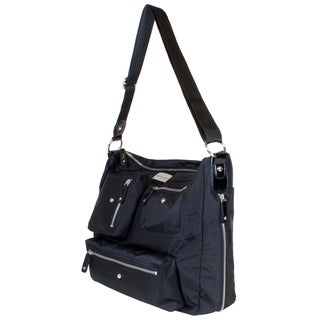 Amy Michelle Women's Iris Black Laptop Tote Bag