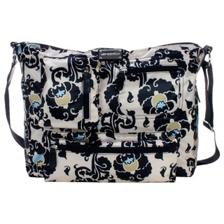 Amy Michelle Iris Charcoal Floral Computer Bag