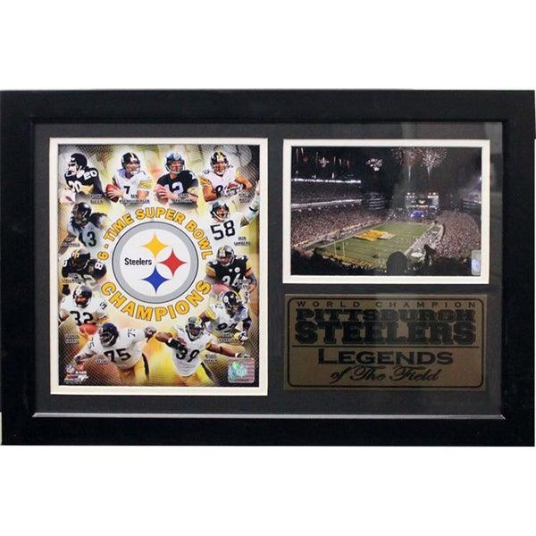 Pittsburgh Steelers Legends of the Field Heinz Field Photo/Stat Plaque (12 x 18)