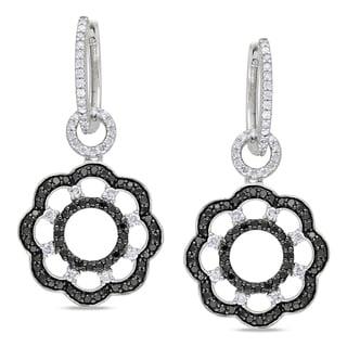 Miadora 14k Gold 1 5/8ct TDW Black and White Diamond Earrings (I-J, I1-I2)