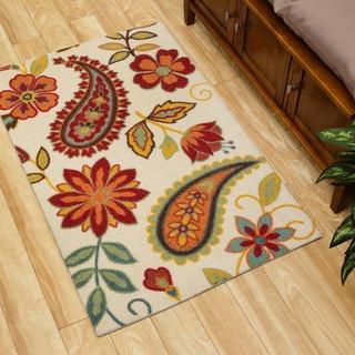 Nourison Vista Floral/ Paisley Multi Color Rug