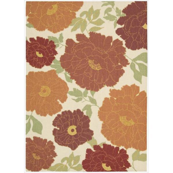 Nourison Vista Floral Multi Color Rug