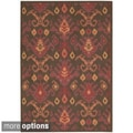 Nourison Vista Ikat Chocolate Rug