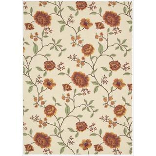 Nourison Vista Ivory Floral Rug