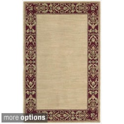 Nourison Vallencierre Beige/ Red Wool Rug
