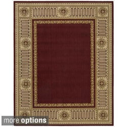 Nourison Vallencierre Burgundy Wool Rug