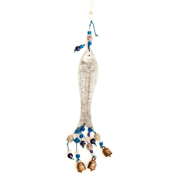 Silver Fish 3-D Wind Chime (India)