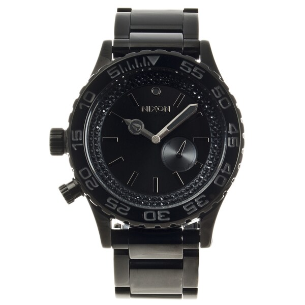 Nixon Men's Black Stainless Steel '42-20' Tide Watch