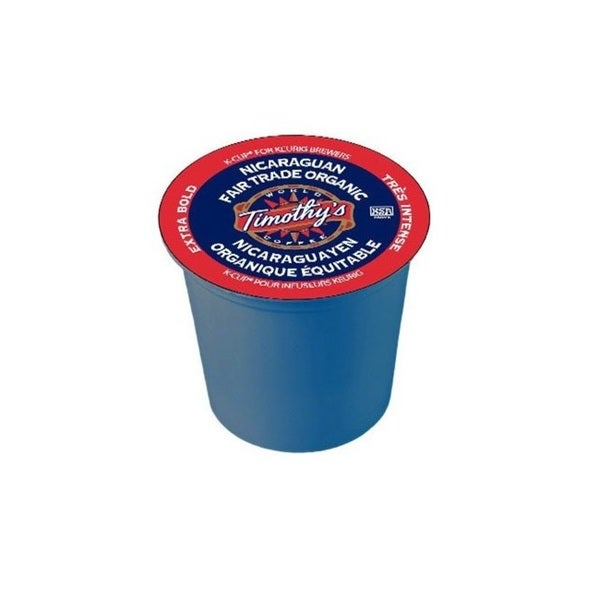 Timothy's World Coffee Nicaraguan Fair Trade K-Cups for Keurig Brewers (Case of 96)