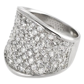 Tressa Collection Sterling Silver CZ Pave Ring