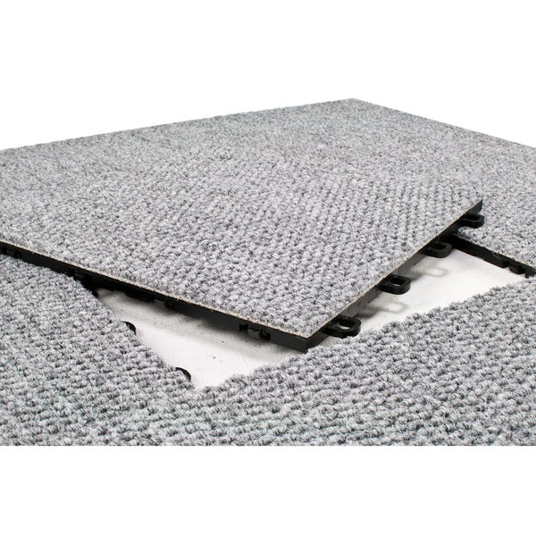 Blocktile 12x12 Inch Interlocking Premium Gray Carpet