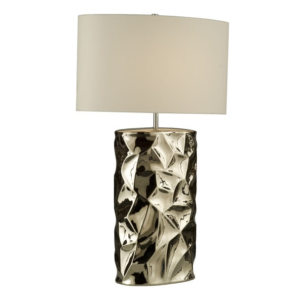 'Cera' Chrome 1-light Table Lamp