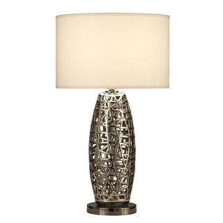 'Bird's Nest' Oval Contemporary Table Lamp