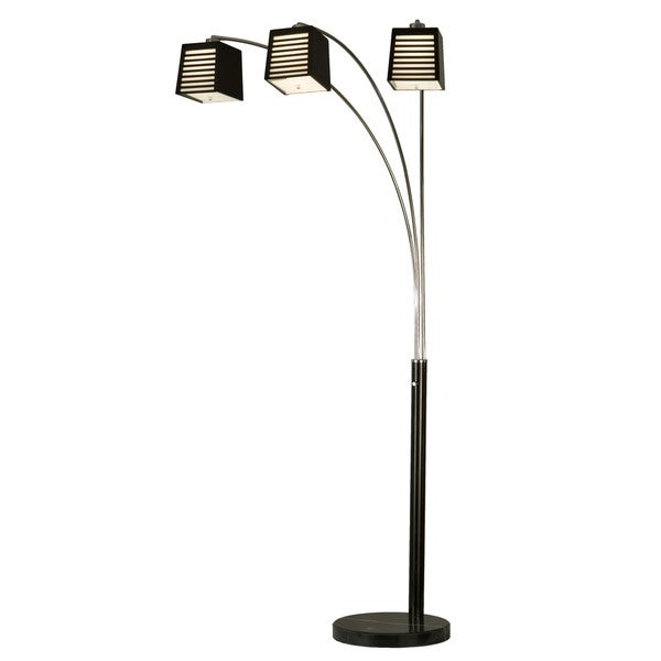 louver 3 light arc lamp 14981094 shopping great. Black Bedroom Furniture Sets. Home Design Ideas