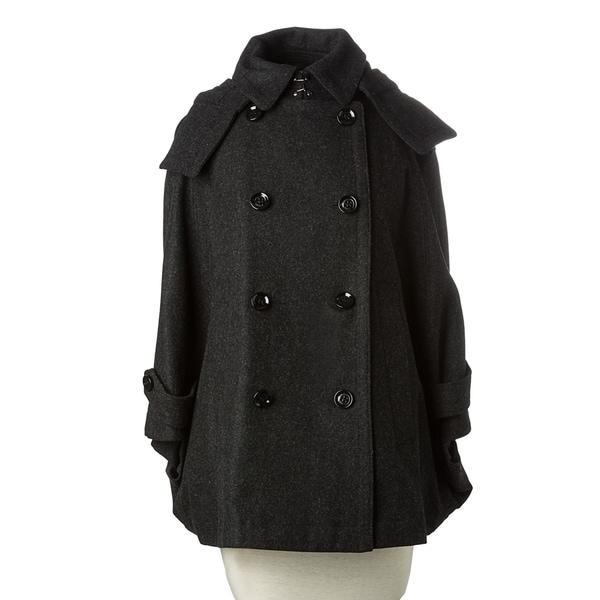 Burberry Brit Women's Charcoal Wool-blend Cropped Swing Coat