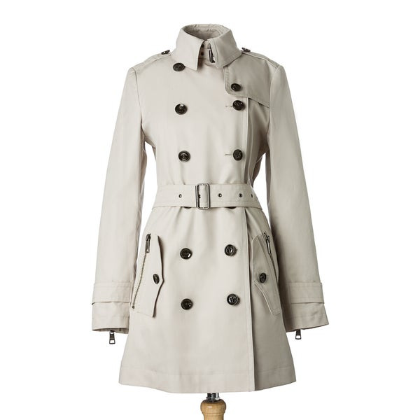 Burberry Brit Cotton Double-breasted Belted Trench Coat