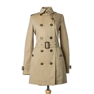 Burberry Prorsum Women's Honey Cotton Belted Trench Coat