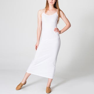 American Apparel Women's White Long Tank Dress
