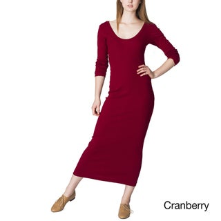 American Apparel Women's Baby Ribbed Long Dress