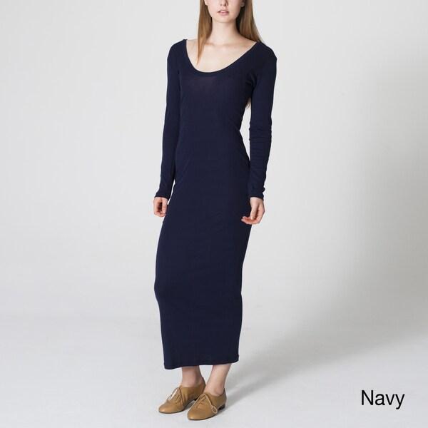 American Apparel Women's Baby Ribbed Long Dress