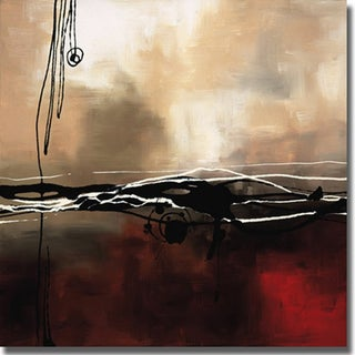 Laurie Maitland 'Symphony in Red and Khaki I' Canvas Art