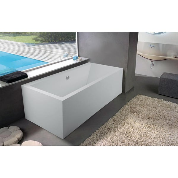 Aquatica Continental-Wht (PURESCAPE 714) Freestanding Solid Surface Bathtub