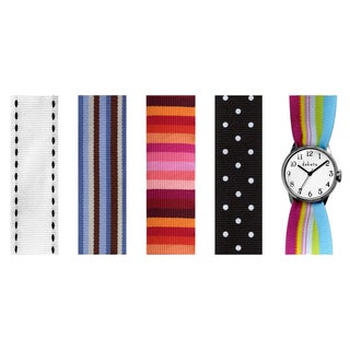 Dakota Women's Brass Interchangeable Nylon Strap Set