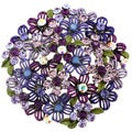 Silvertone Crystal Purple Flower Cluster Brooch