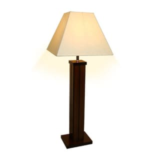Hudson Wooden Natural Dark Table Lamp