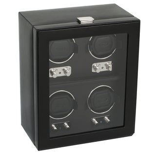 Wolf Designs Heritage Four Watch Winder with Cover