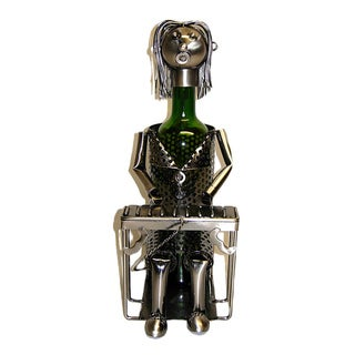 Wine Caddy Threestar Pianist Metal Wine Bottle Holder