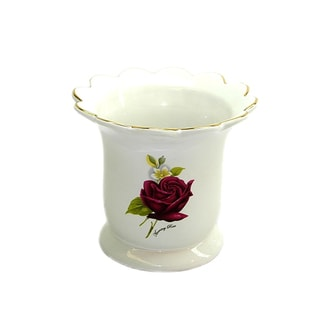 Red Rose Utensil Holder