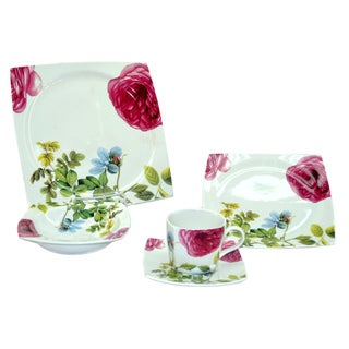 Fabulous Roses Design 20-piece Dinnerware Set