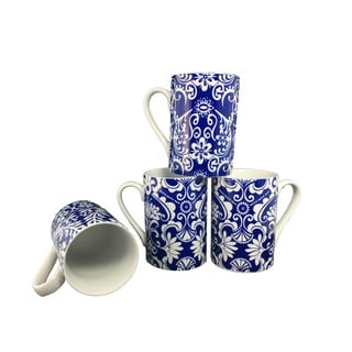 Blue 4-inch Coffee/ Tea Mugs (Set of 4)