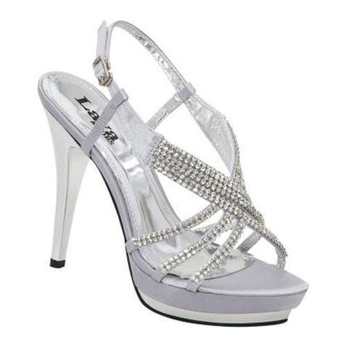 Women's Lava Shoes Alexa Silver Satin