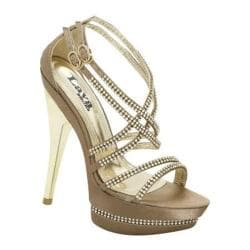 Women's Lava Shoes Andrea Taupe Satin