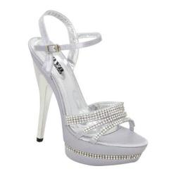 Women's Lava Shoes Angelina Silver Satin