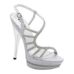 Women's Lava Shoes Donna Silver Satin