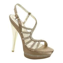 Women's Lava Shoes Donna Taupe Satin