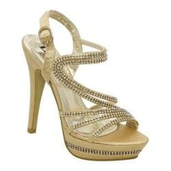 Women's Lava Shoes Valentina Gold Satin