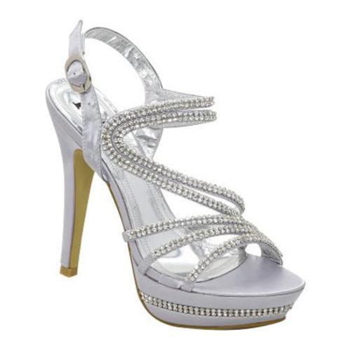 Women's Lava Shoes Valentina Silver Satin