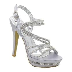 Women's Lava Shoes Valentina Silver Satin