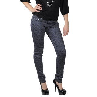 Hailey Jeans Co. Juniors Floral Print Stretch Skinny Jeans