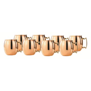Copper Moscow Mule 2-ounce Shot Mugs (Set of 8)