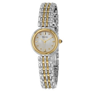 Bulova Women&#39;s Yellow-gold Plated Steel &#39;Classic&#39; Watch