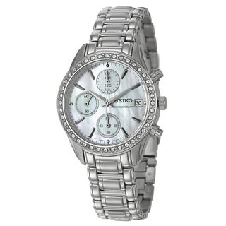Seiko Women's Stainless Steel Chronograph Watch