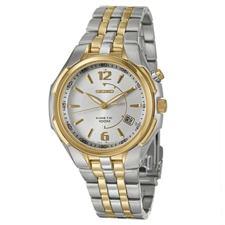 Seiko Men&#39;s Yellow-gold Plated Steel Power Reserve Watch