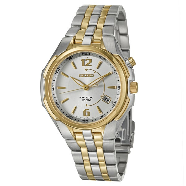 Seiko Men's Yellow-gold Plated Steel Power Reserve Watch