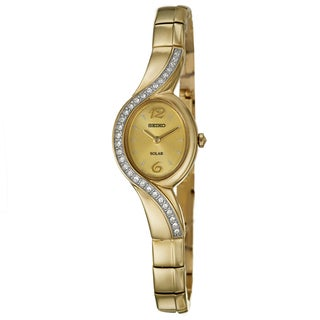 Seiko Women's Yellow-gold Plated Stainless Steel Watch