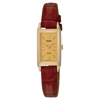 Seiko Women's Yellow-gold Plated Steel 'Solar' Watch